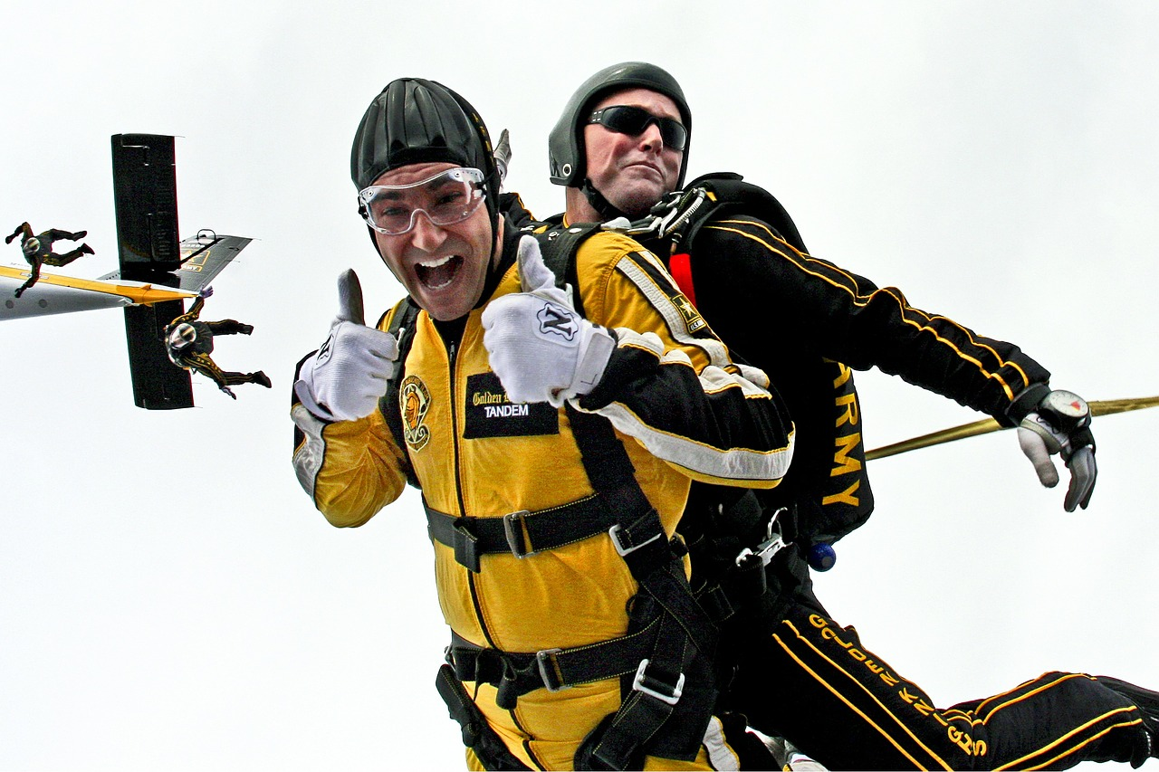 two Men skydiving, two men bonding, men lonely, men and loneliness