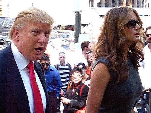 trump and melania comply deny and no reply