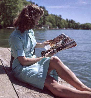 Woman, Reading Larry Flynt